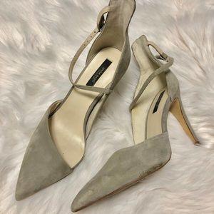 Zara cutout pump - Gray suede